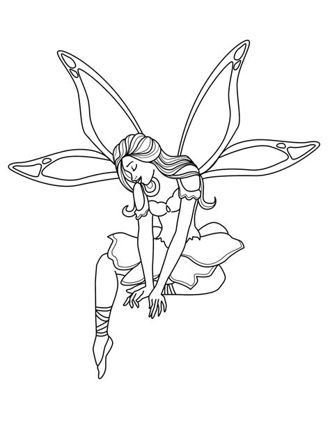 Free Free Printable Tooth Fairy Coloring Pages Download