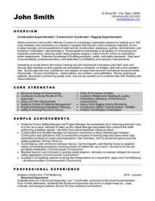 resume exles for construction supervisor structural supervisor resume template premium resume sles exle