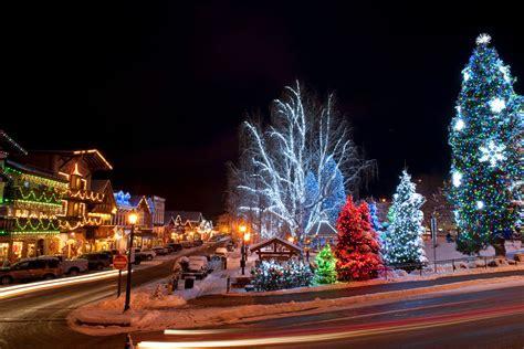 christmas towns  getaways   northwest