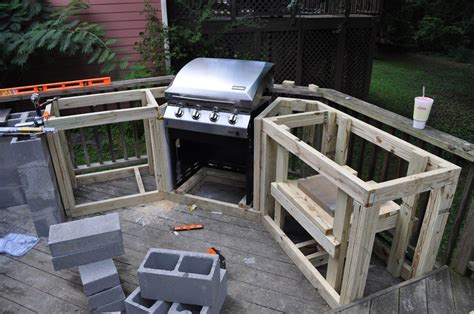 How To Build An Outdoor Kitchen With Wood Frame With How