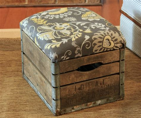 how to build an ottoman diy milk crate ottoman build crate seats for your home