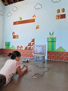 xxl big mega set super mario bros wall sticker ds wii With inspiring nintendo wall decals for kids room