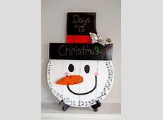 Wood Snowman Advent Calendar Christmas Countdown