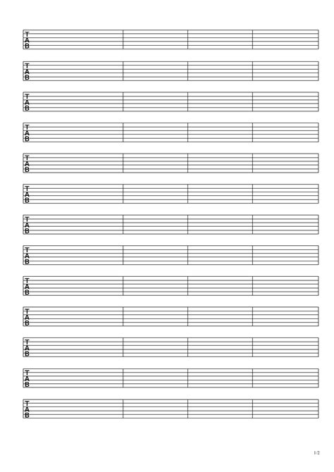 They are all downloadable for free in printable pdf. Free Blank Sheet Music and Tab Paper to Download - Chainsaw Guitar Tuition