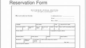31  Reservation Form Templates