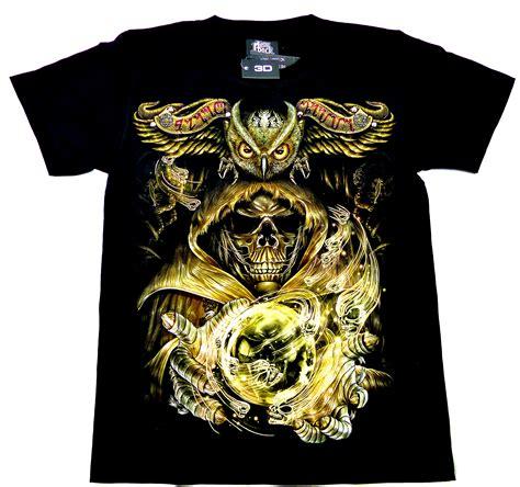 t shirts schwarz 3d herren damen magischer totenkopf mit eule seilershop immer genau das