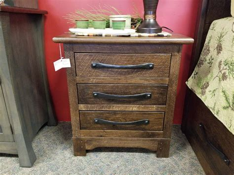 Farmhouse Nightstand by Farmhouse 3 Drawer Nightstand Shown In Pressed Rustic Hickory