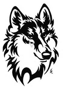 Howling Wolf Pumpkin Carving Stencil