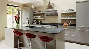 revgercom cuisine design gris clair idee inspirante With salle À manger contemporaine avec ilot cuisine gris