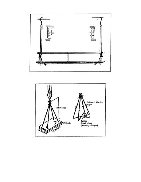 boatswains chair scaffold figure 1 17 boatswain s chair construction details