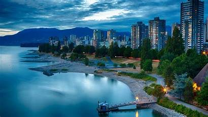Vancouver Canada Wallpapers British Columbia Dusk Background