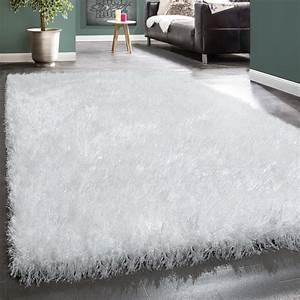 shaggy hochflor teppich kuschelig glanzfasern glitzer With balkon teppich mit tapete anthrazit glitzer