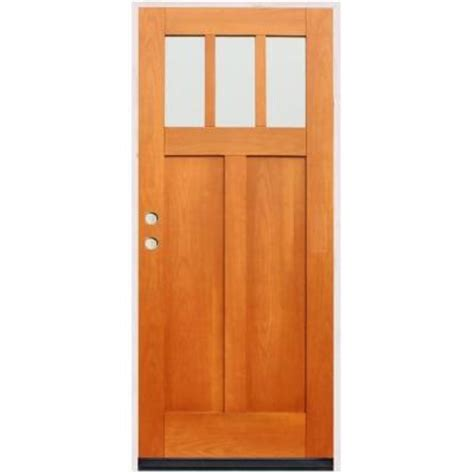 home depot craftsman door pacific entries craftsman 3 lite stained birch wood entry