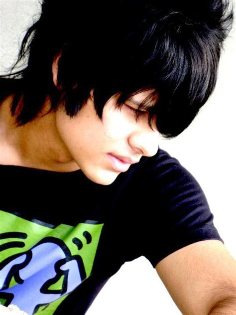 wallpapers emo boy hairstyle