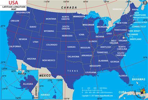 usa latitude and longitude map free