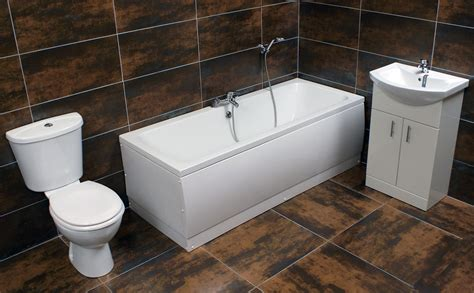 Jenny Double Ended Bath Suite With Vanity Basin Sink