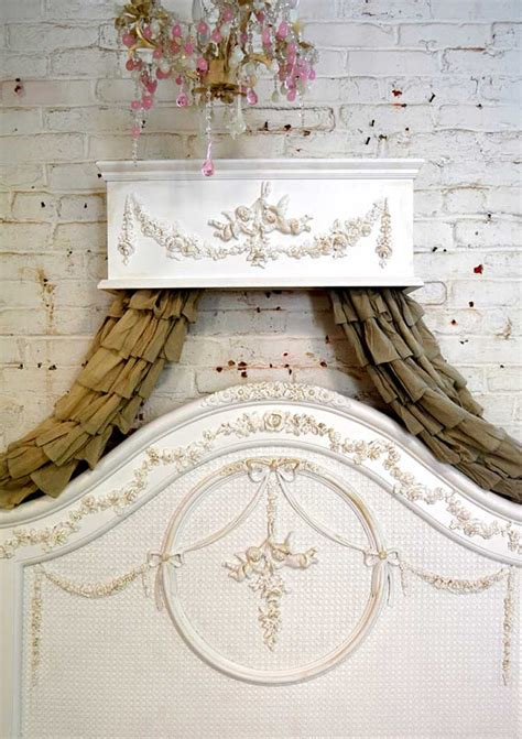 shabby chic bed crown bed crown painted cottage chic shabby handmade bed crown