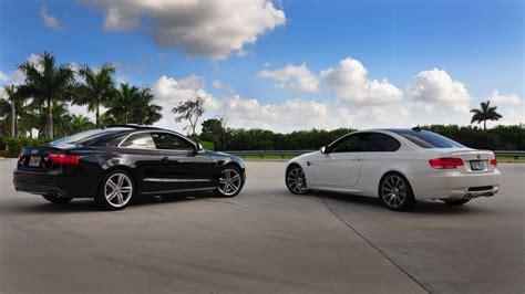 Audi S5 Vs Bmw M3 white bmw m3 vs black audi s5