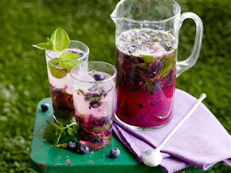 thirsty thursday blueberry ginger mojito pitchers