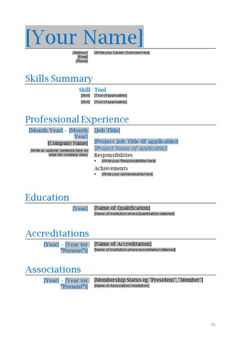 Resume Template For Microsoft Word by Engineer Resume Template How To Write Stuff Org