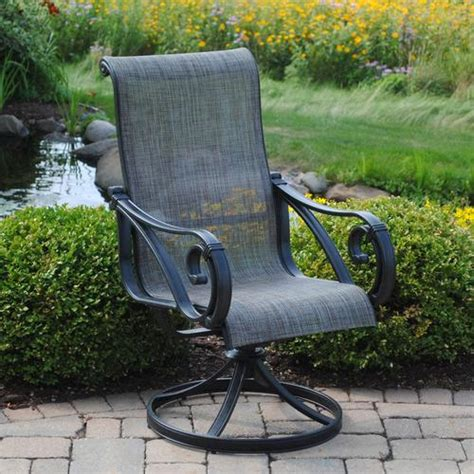 backyard creations boulder creek swivel rocker at menards 174
