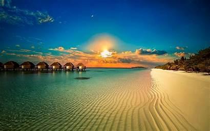 Sunset Beach Tropical Summer Nature Landscape Water