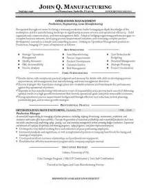 resume headline for production manager production manager resume exle