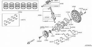 Infiniti Ex35 Engine Crankshaft Main Bearing  Grade