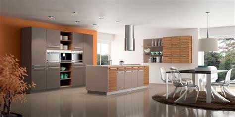 cuisine taupe et bois cuisine moderne en bois