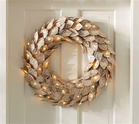 pottery barn wreath lit birch wreath pottery barn