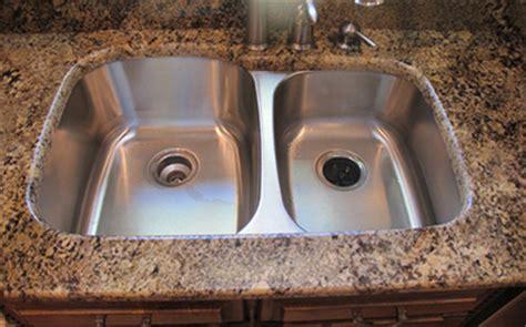 kitchen sink undermount vs drop in sinks granite countertops unlimited