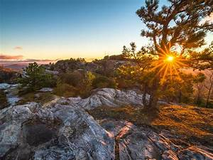 Sunrise, In, Linville, Gorge, Wilderness, Area, In, North, Carolina, Autumn, Landscape, Hd, Desktop