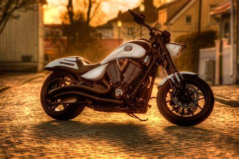 stock photo  motorbike motorcycle pavement