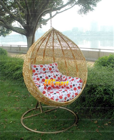 bird nest swing hanging basket rattan chair outdoor