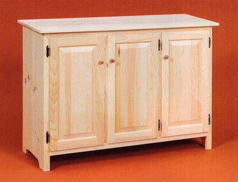 Sideboard Buffet Cabinet by Amish Unfinished Solid Pine Rustic Sideboard Buffet