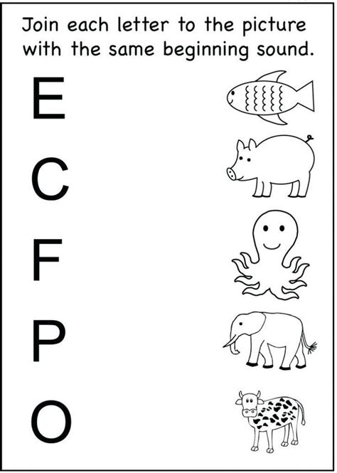 matching toddler worksheets   year olds schematic