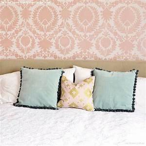 Best stenciled painted walls images on