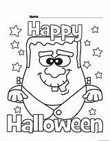 Halloween Coloring Happy Monster Printable Total Views Freekidscoloringpage Printabel 2734 sketch template