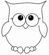 Owl Coloring Cartoon sketch template