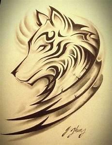 Tatouage Loup Celtique : wolf tattoo 2 tatouage tatouage tatouage loup et loup tribal ~ Farleysfitness.com Idées de Décoration