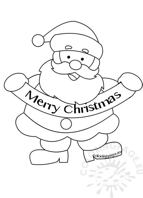 merry christmas santa claus picture coloring page