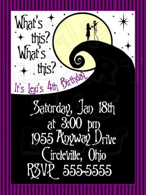 Nightmare Before Christmas Birthday Invitations