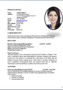 mba resume format for freshers doc standard curriculum vitae