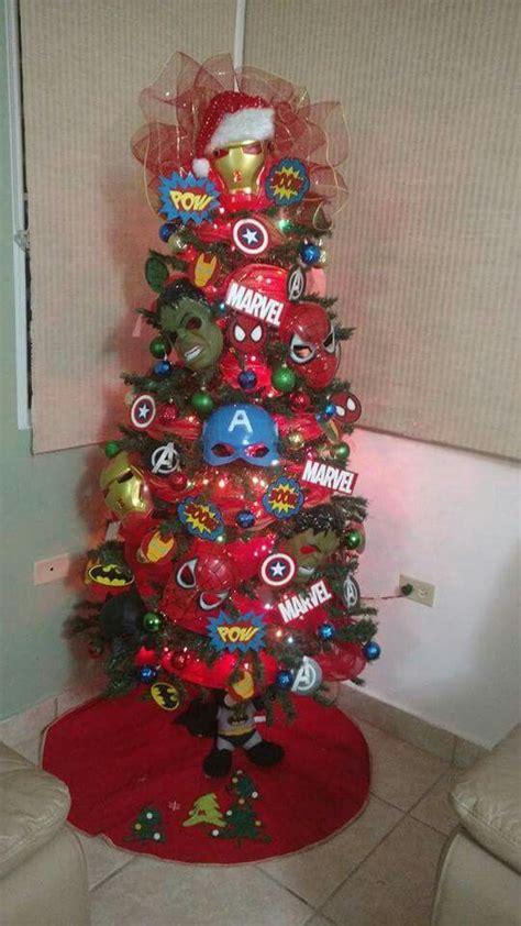 super heroes christmas tree super heroes marveldc