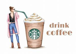Fashion Illustration , Drink Coffee - YouTube