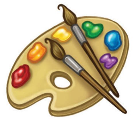 artists clipart artistic clipart pallet pencil and in color artistic