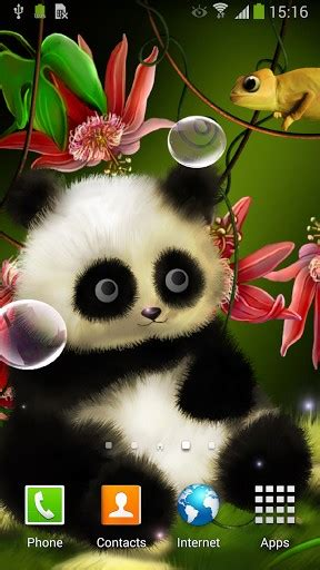 Animation Wallpaper Android Screenshots - animated panda live wallpaper for android by live