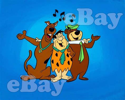 Rare! Flintstones Yogi Bear Scooby Doo Cartoon Color Photo