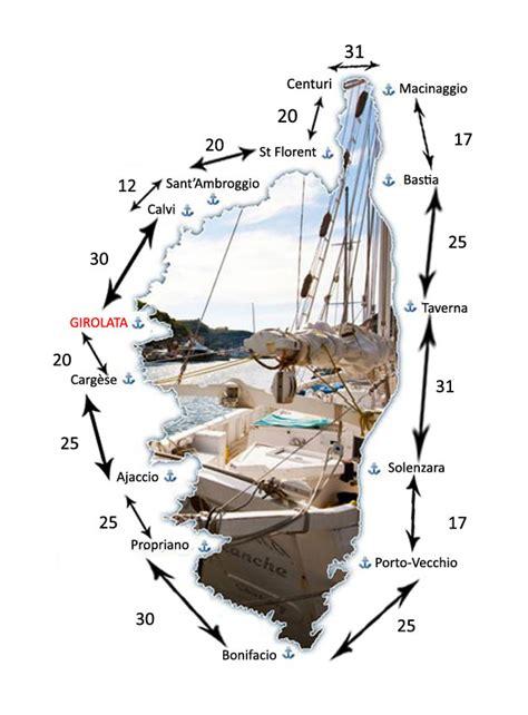 distances entre les ports de corse port de plaisance de girolata ghjirulatu corse corsica