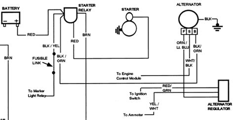 1984 Mustang Charging System Diagram by Alternater Not Charging Battery Fixya